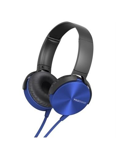 Polo Smart Polosmart Fs09 Kablolu Kulaküstü Kulaklık Mavi Renkli